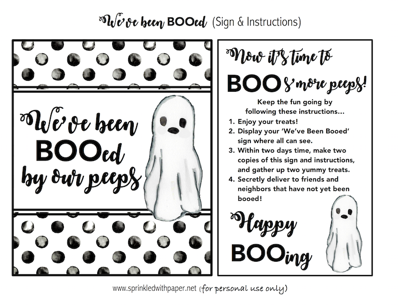 We've Been Booed Printable Halloween sign