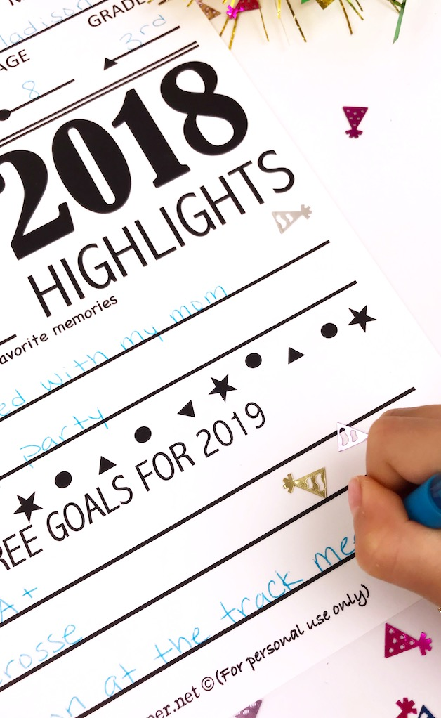 Printable 2018 Year in Review